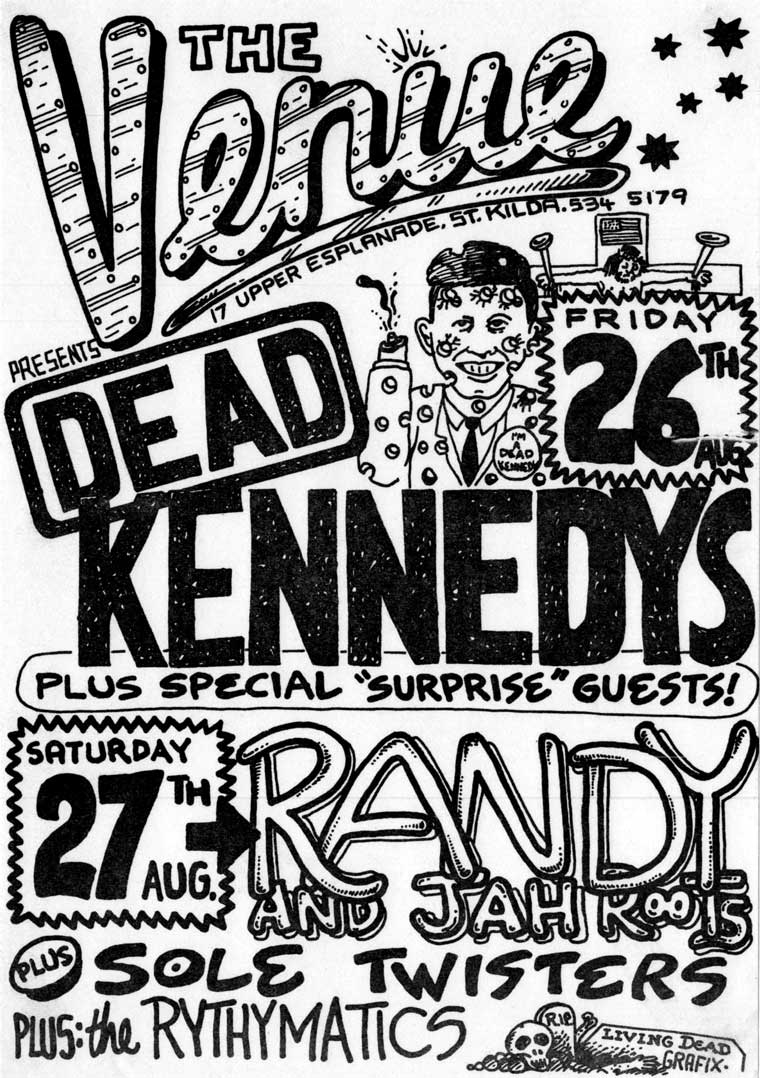 the Venue bill, the Dead Kennedys